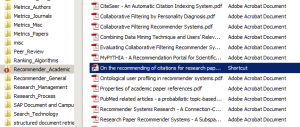 Possibility: Save PDFs for your PhD in different folders