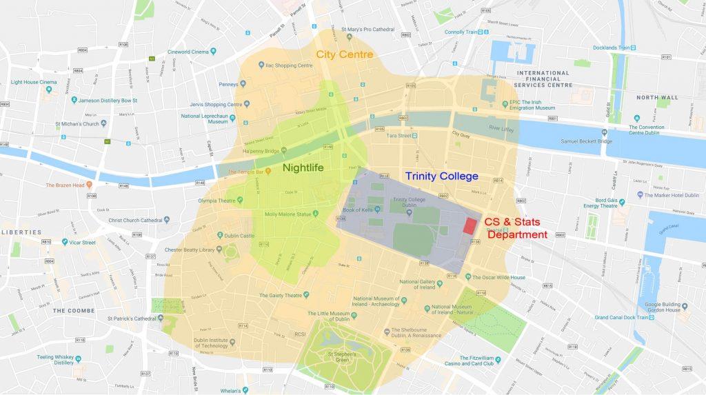 dublin areas trinity college hotels