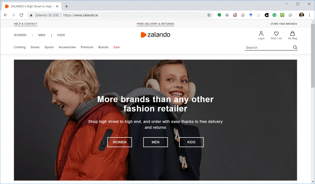 Zalando Ireland's Website http://zalando.ie