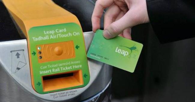 leap card dublin bus bikes public transport