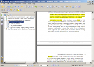 Add more bookmarks if a PDF is relevant for the thesis
