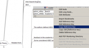 Copy bibliographic data from SciPlore MindMapping to your PhD thesis in MS Word