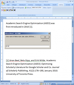 Create a bibliography (reference list) for your PhD thesis automatically