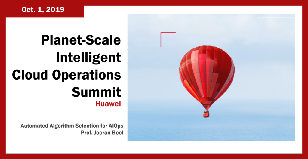 Automated Algorithm Selection for AIOps at Huwei's Planet-Scale Intelligent Cloud Operations Summit