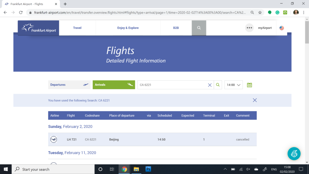 Opodo Review, Flight Cancelled Frankfurt Airport Website
